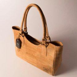 Beautiful tote handbag from natural cork, vegan bag