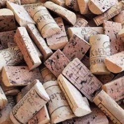 Brand new wine cork halves