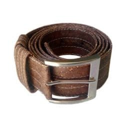 Brown Cork Belt 40mm Wide Vegan Leather