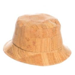 Bucket hat made from natural cork