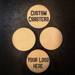 Cheap Cork Coaster Monogram