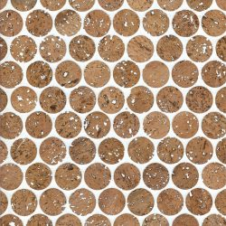 Cork Mosaic Tile for Floors, Walls, Bathroom, Kitchen! Penny Round Tile