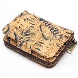Cork-leather, handmade vegan wallet purse