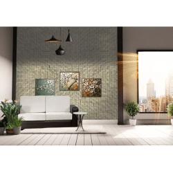 Gray Cubes Acoustic Cork Wall Panels Peel & Stick