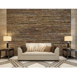 Ledge Stone Peel and Stick Cork Wall Panels