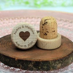 custom wooden wine stoppers