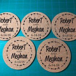 Monogram Cork Coasters