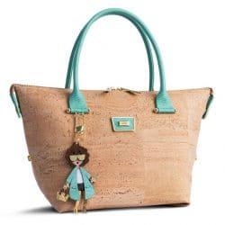 Natural color cork Handbag