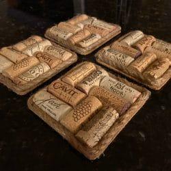 Wine Cork Coasters Gift