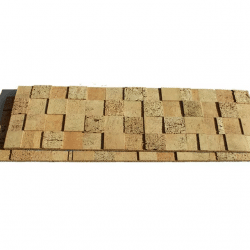 Wood Cubes Cork Ceiling Tiles Peel & Stick