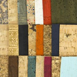 cork fabric samples